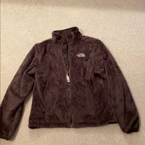 Brown furry North Face jacket